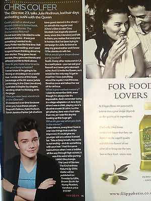 CHRIS COLFER interview GLEE! BRAND NEW UK 1 DAY ISSUE AUGUST 2013