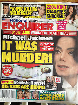 National Enquirer 2013 Michael Jackson Kim Kardashian Taylor Swift Amy Poehler