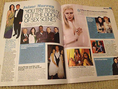 New Celebs Magazine JAIME MURRAY Gary Kemp Lee Brennan Girls Aloud Travis Fimmel