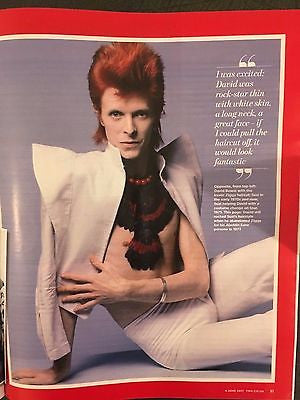You magazine June 4 2017 - David Bowie Suzy Ronson Sophie Simnett Rick Astley