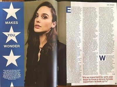NME Magazine June 2017 Wonder Woman Gal Gadot Photo Cover Interview