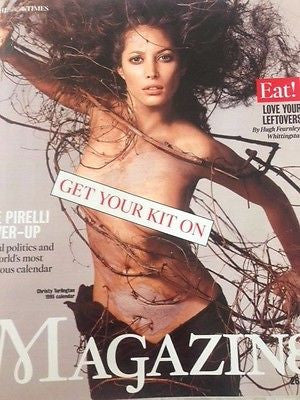 (UK) TIMES MAGAZINE SEPT 2015 CHRISTY TURLINGTON PIRELLI CALENDAR 2015 PHOTOS