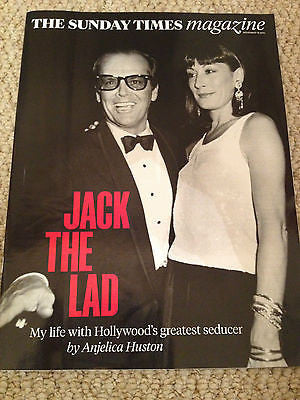 ANJELICA HUSTON interview JACK NICHOLSON UK 1 DAY ISSUE NOV 2014 PAOLO NUTINI