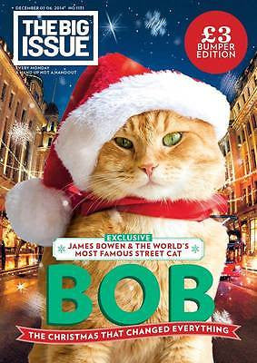 Big Issue Magazine Christmas 2014 Street Cat Named Bob The Streetcat James Bowen