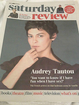 Amelie AUDREY TAUTOU PHOTO COVER INTERVIEW JUNE 2014 JK ROWLING RIK MAYALL