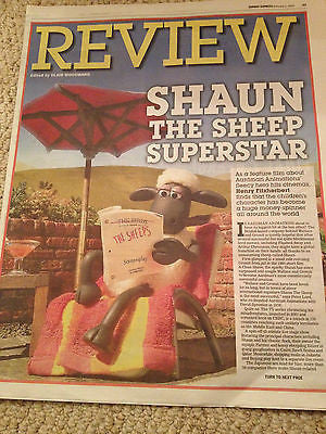 AARDMAN Shaun the Sheep The Movie Photo Cover Express Review Special Feb 2015