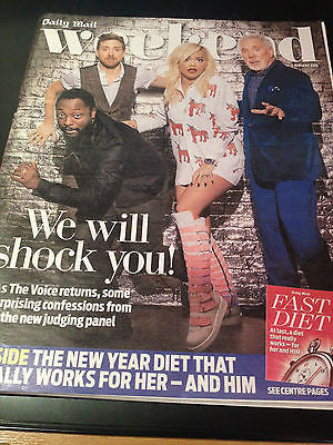 NEW Weekend Magazine 2015 Rita Ora Will.i.am Tom Jones Ricky Wilson THE VOICE