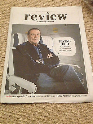 Telegraph Review February 2014 - John Travolta Ian Fleming TS Eliot Kevin Spacey