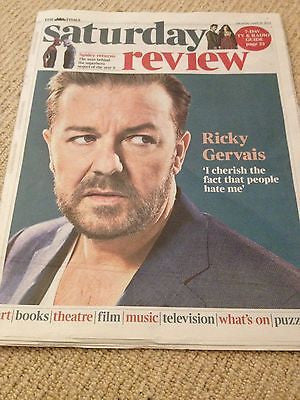 RICKY GERVAIS interview THE AMAZING SPIDERMAN 2 UK 1 DAY ISSUE BRAND NEW 2014