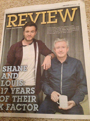 UK Shane Filan Louis Walsh Express Review Cover Clippings Westlife Promo