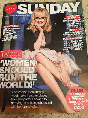 SUNDAY MAGAZINE NOVEMBER 2015 TWIGGY PHOTO COVER INTERVIEW