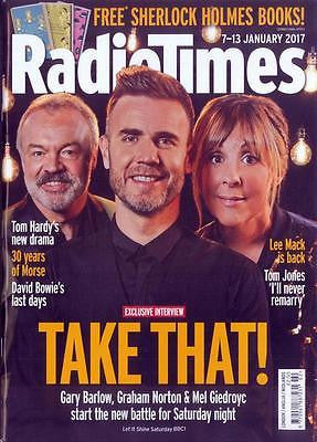 UK RADIO TIMES Magazine 7 Jan 2017 GARY BARLOW Tom Jones SHAUN EVANS David Bowie