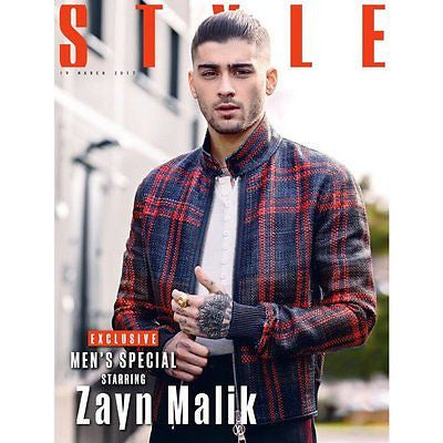 ZAYN MALIK Photo Cover interview UK STYLE MAGAZINE MARCH 2017