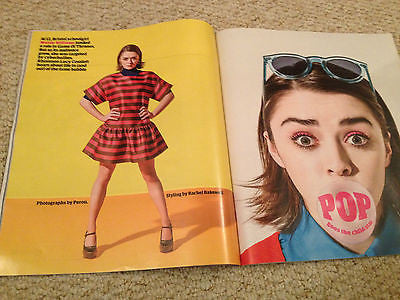 Game of Thrones MAISIE WILLIAMS PHOTO INTERVIEW MAGAZINE DEC 2014 SUSAN BOYLE