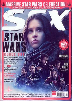 SFX MAGAZINE JANUARY 2017 STAR WARS ROGUE ONE FELICITY JONES CELEBRATION COVER