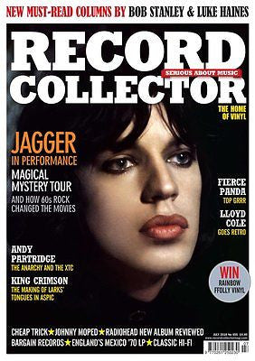 MICK JAGGER - THE ROLLING STONES UK RECORD COLLLECTOR magazine July 2016