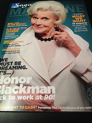 SAGA Magazine, Honor Blackman James Bond Girl Pussy Galore Goldfinger NEW 2015
