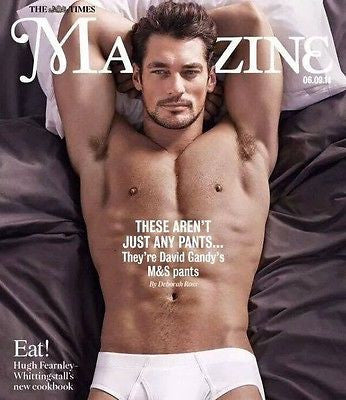 David Gandy Male Model Hunk Photo Cover Interview Uk Magazine September 2014 New
