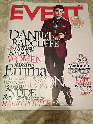Harry Potter DANIEL RADCLIFFE - NEW UK COVER EVENT MAGAZINE - AUGUST 2014
