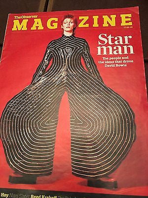 Observer Magazine 17 February 2013 David Bowie Ziggy Stardust