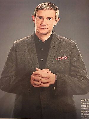 MARTIN FREEMAN Photo interview SHERLOCK UK Observer New Review 1 January 2017