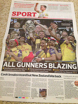 FA CUP FINAL 2015 ARSENAL v ASTON VILLA UK OBSERVER 31 MAY 2015 - BRAND NEW