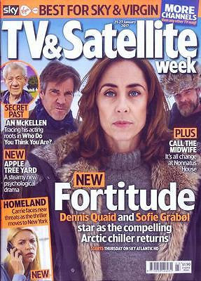 UK TV & Satellite Magazine 21 Jan 2017 FORTITUDE Sofie Grabol Dennis Quaid