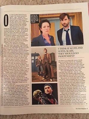 UK Times Magazine February 2017 David Tennant Exclusive interview