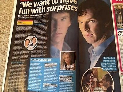 TV & Satellite Magazine Jan 2017 Benedict Cumberbatch Jason Isaacs Mark Gatiss