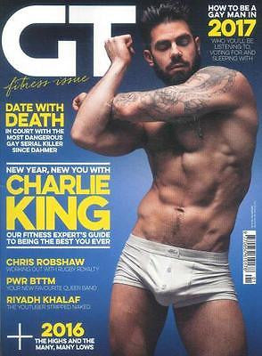GAY TIMES MAGAZINE JANUARY 2017 - CHARLIE KING HOT! PHOTO COVER INTERVIEW