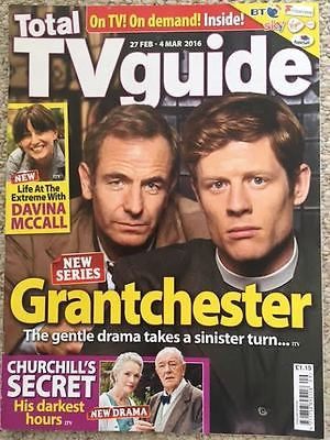 UK Total TV Guide Magazine 27 Feb 2016 Robson Green James Norton