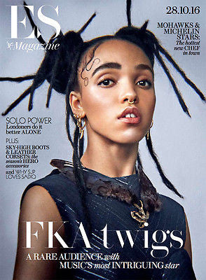 (UK) ES MAGAZINE OCTOBER 2016 FKA TWIGS PHOTO COVER INTERVIEW ROBERT PATTINSON