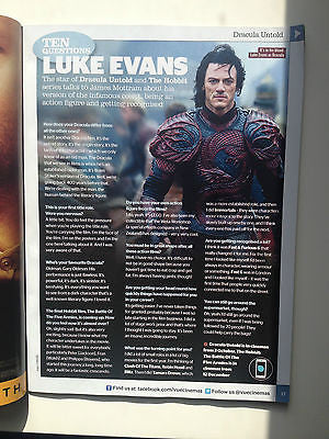 UK CINEMA MAGAZINE 2014 LUKE EVANS DRACULA TOM HARDY BENEDICT CUMBERBATCH