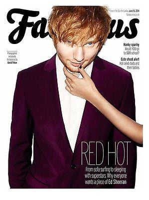 Ed Sheeran Hot Photo Cover Interview Uk Fabulous Magazine June 2014