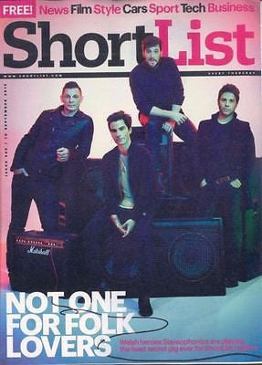 (UK) SHORTLIST MAGAZINE SEPTEMBER 2015 STEREOPHONICS KELLY JONES PETER CAPALDI