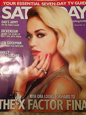 SATURDAY MAGAZINE DECEMBER 2015 RITA ORA HAYLEY MILLS ALISON KING PETER FIRTH