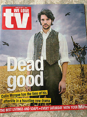 WE LOVE TV Magazine June 2016 COLIN MORGAN The Living and the Dead Photo Cover