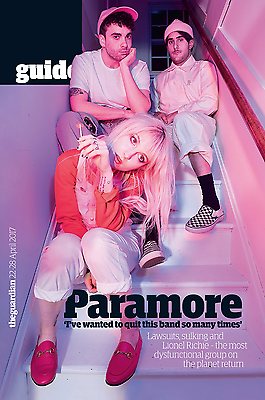 UK Guardian Guide Magazine April 2017 Paramore Cover Interview