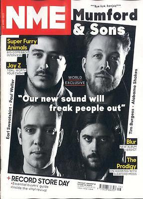 NME MAGAZINE APRIL 2015 MUMFORD & SONS THE PRODIGY PAUL WELLER ALABAMA SHAKES