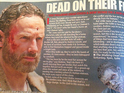 UK HOT TV MAGAZINE - ANDREW LINCOLN - MARTIN SHAW - TOM HUGHES - APRIL 25 2015