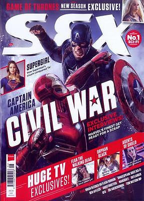 SFX MAGAZINE JUNE 2016 CAPTAIN AMERICA CIVIL WAR PHOTO COVER CHRIS EVANS