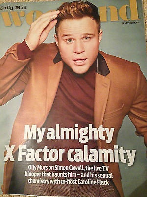 OLLY MURS PHOTO COVER WEEKEND MAGAZINE - NOVEMBER 2015 IDRIS ELBA DAVID TENNANT