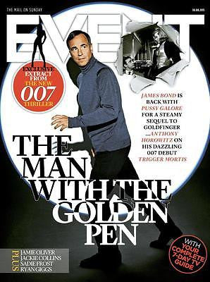 (UK) EVENT MAGAZINE AUGUST 2015 JAMES BOND COVER ON THE SEQUEL TO GOLDFINGER