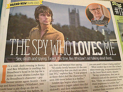TV MAGAZINE NOVEMBER 7 2015 BEN WHISHAW AIDAN TURNER MITCHELL & WEBB