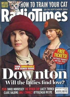 DOWNTON ABBEY UK mag 2014 NEW SERIES MICHELLE DOCKERY LADY MARY RADIO TIMES