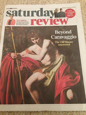 (UK) Times Review September 2016 Caravaggio Clare Balding Warpaint Elvis Presley