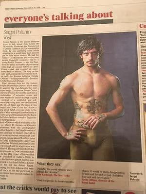 Sergei Polunin Photo Article UK Times Review 26 November 2016