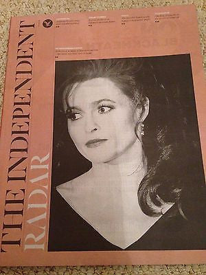HELENA BONHAM CARTER PHOTO COVER UK INDEPENDENT MAGAZINE MARCH 2016 TRAVIS