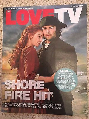 Poldark AIDAN TURNER Photo Cover Interview Love TV UK magazine 10 June 2017