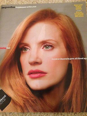 GUARDIAN WEEKEND MAGAZINE APRIL 2016 JESSICA CHASTAIN PHOTO COVER INTERVIEW